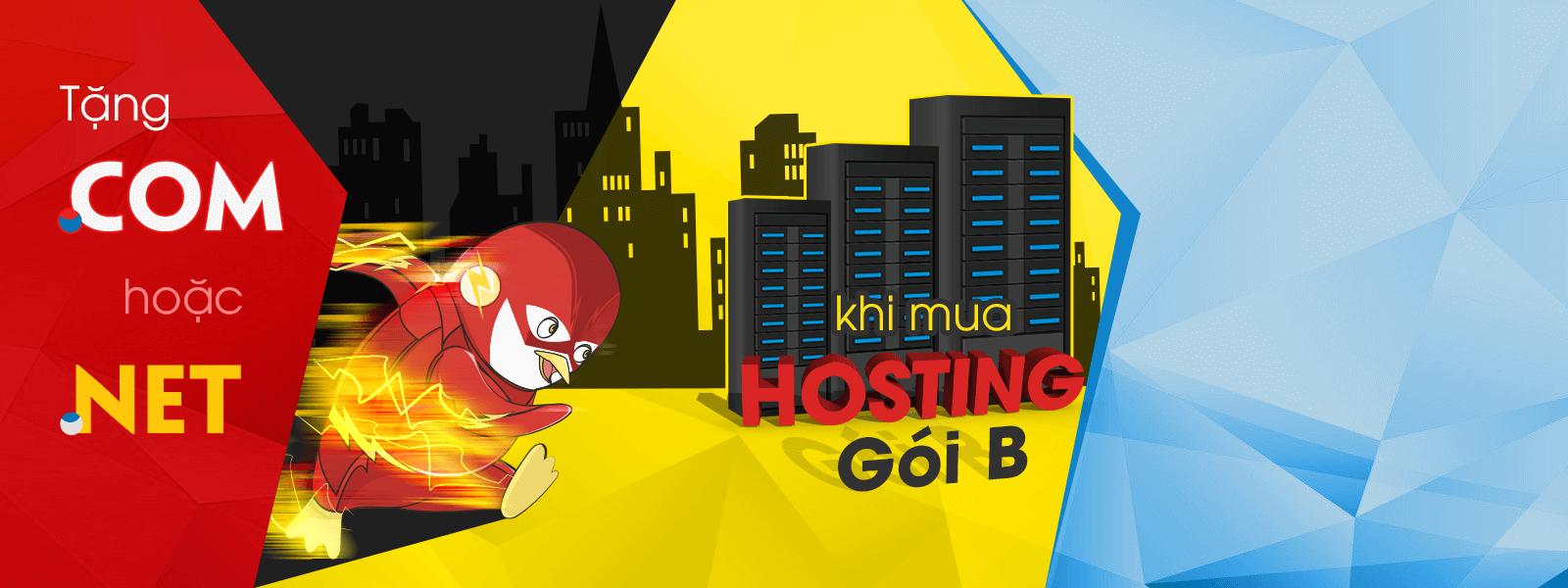 Mua hosting tặng tên miền .com hoặc .net